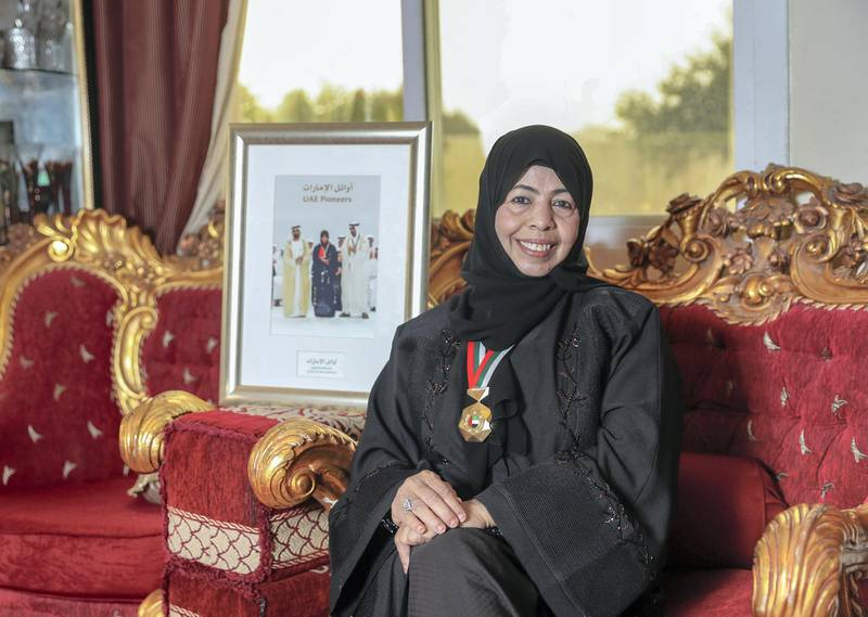 Abu Dhabi, U.A.E., January 16, 2018.   Profile pix of Fathiya Al Nadhari, who once worked in the office of Sheikh Zayed and also helped set up the Abu Dhabi Women's Association. She still heads the community and safety department of the UAE Red Crescent.Victor Besa / The NationalNational