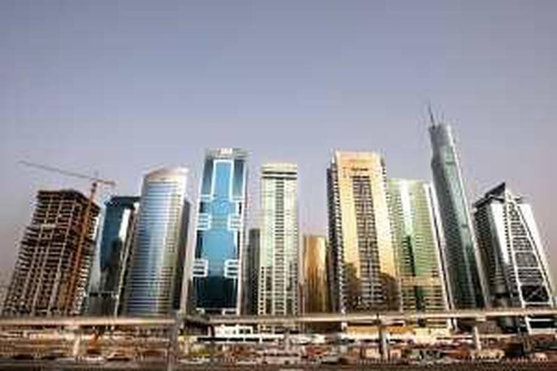 DUBAI, UNITED ARAB EMIRATES – May 18: View of the Jumeirah Lake Towers in Dubai.  (Pawan Singh / The National) *** Local Caption ***  PS02-JLT.jpg