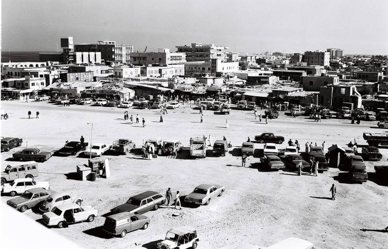 Old Souq, Abu Dhabi, 1970's. Courtesy Al Ittihad *** Local Caption ***  000012.jpg