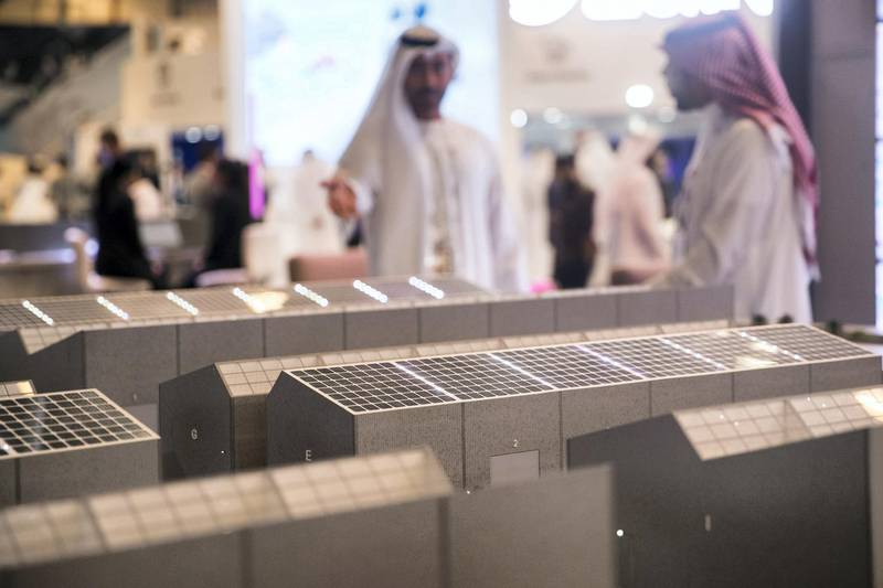 DUBAI, UNITED ARAB EMIRATES - OCTOBER 14, 2018. Dubai Commercity model at Gitex Technology Week at DWTC.(Photo by Reem Mohammed/The National)Reporter: Section:  NA
