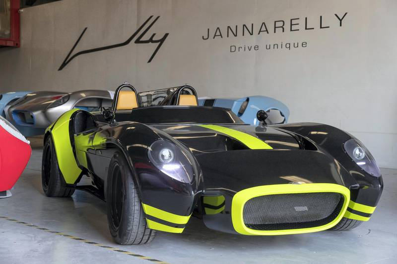 DUBAI, UNITED ARAB EMIRATES. 28 MAY 2018. The Jannarelly safety car produced in Dubai at the Jannarelly factory in Al Jadaf boatyard. (Photo: Antonie Robertson/The National) Journalist: Adam Workman. Section: Motoring.