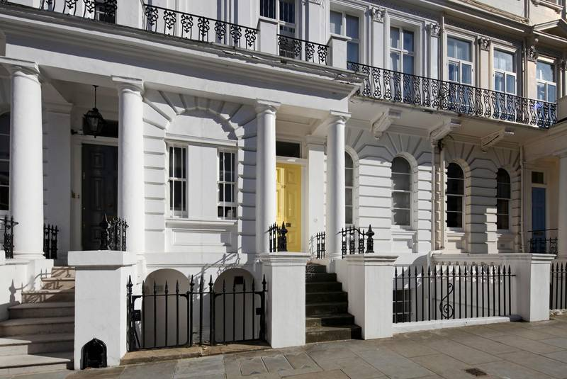 A wealthy street in the neighborhood of Notting Hill in London. Getty Images