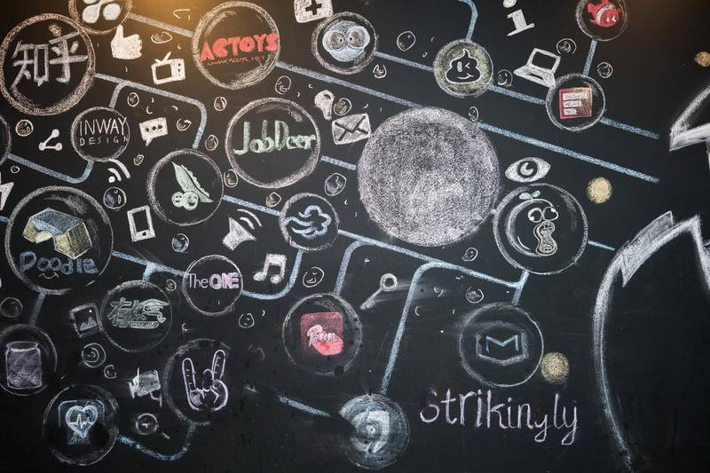 The names of various startup companies in which Sinovation Ventures have invested are displayed on a chalk board at the venture's headquarters in Beijing, China, on Tuesday, Aug. 15, 2017. SinovationVentures' latest growing endeavor, an in-house AI Institute, has about 30 full-time employees with plans to grow headcount to about a hundred within the year. Photographer: Giulia Marchi/Bloomberg