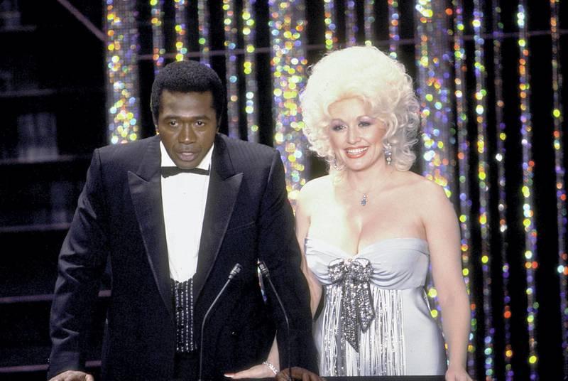 """""""Academy Awards: 52nd Annual,"""" Ben Vereen, Dolly Parton. 1980. © 1980 Gunther"""