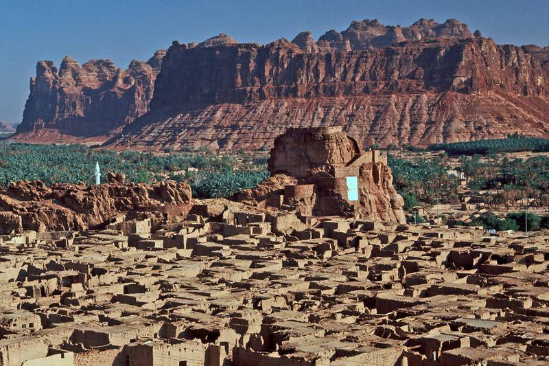 View of old Al-Ula, Al-Ula, Saudi Arabia. Amar Grover for the National. for travel story saudi