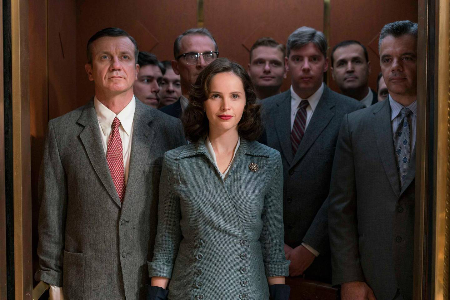 Felicity Jones stars as Ruth Bader Ginsburg in Mimi Leder's ON THE BASIS OF SEX, a Focus Features release. Courtesy Focus Features