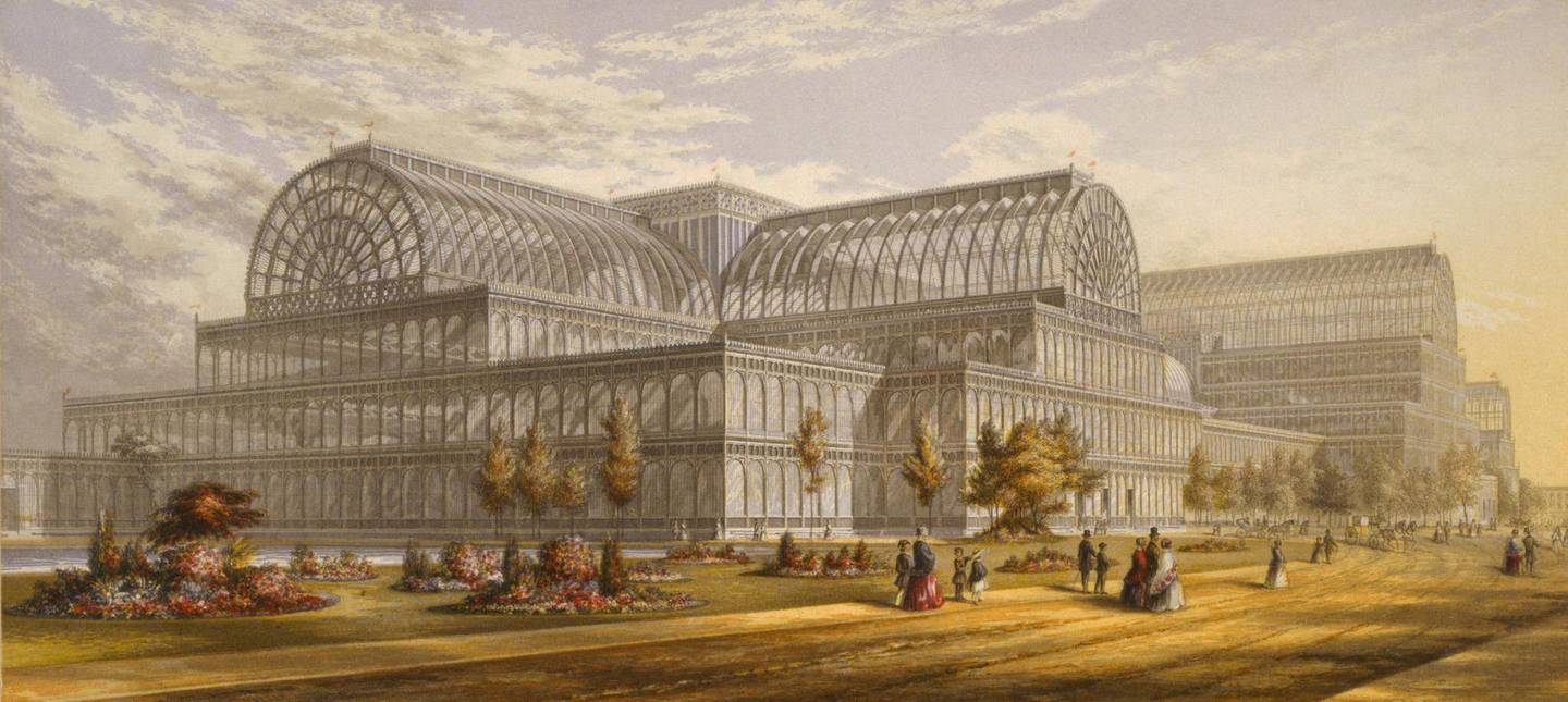 Editorial Use Only / No MerchandisingManadatory Credit: Photo by Courtesy Everett Collection / Rex Features (1409432a)Crystal Palace during the Great Exhibition, London, 1851-1852, was a revolutionary building designed by Sir Joseph Paxton using prefabricated cast iron and glass.Crystal Palace during the Great Exhibition, London, 1851-1852, was a revolutionary building designed by Sir Joseph Paxton using prefabricated cast iron and glass.