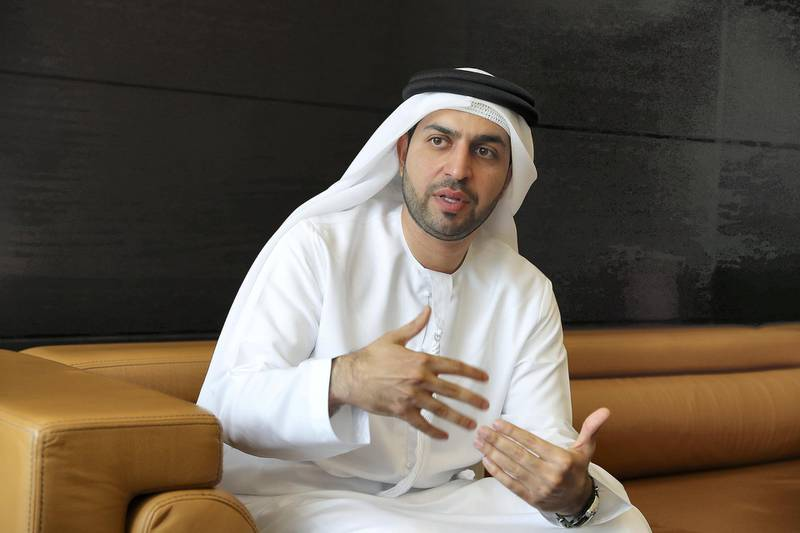 DUBAI , UNITED ARAB EMIRATES , APRIL 23  – 2018 :- Ammar Al Malik, CEO of Internet City during the interveiw at his office in Dubai Internet City in Dubai. ( Pawan Singh / The National ) For Business. Story by Sarah