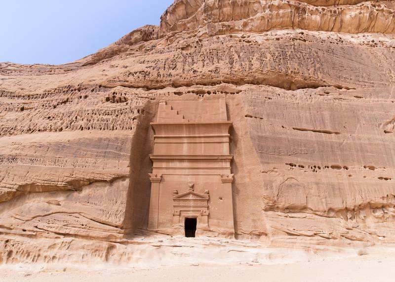 RIYADH, KINGDOM OF SAUDI ARABIA. 29 SEPTEMBER 2019. Madaen Saleh tombs in Al Ula. (Photo: Reem Mohammed/The National)Reporter:Section:
