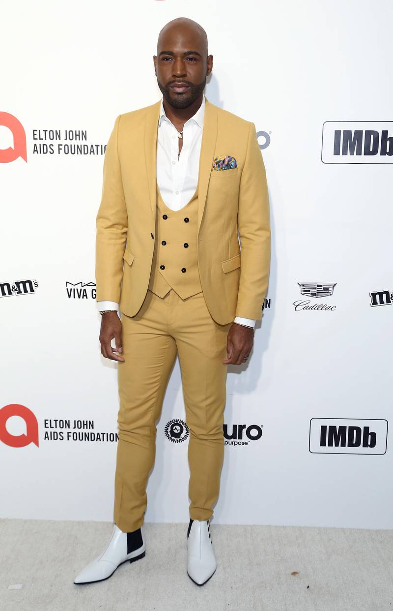 LOS ANGELES, CALIFORNIA - FEBRUARY 09: Karamo Brown walks the red carpet at the Elton John AIDS Foundation Academy Awards Viewing Party on February 09, 2020 in Los Angeles, California.   Tommaso Boddi/Getty Images for IMDb/AFP
