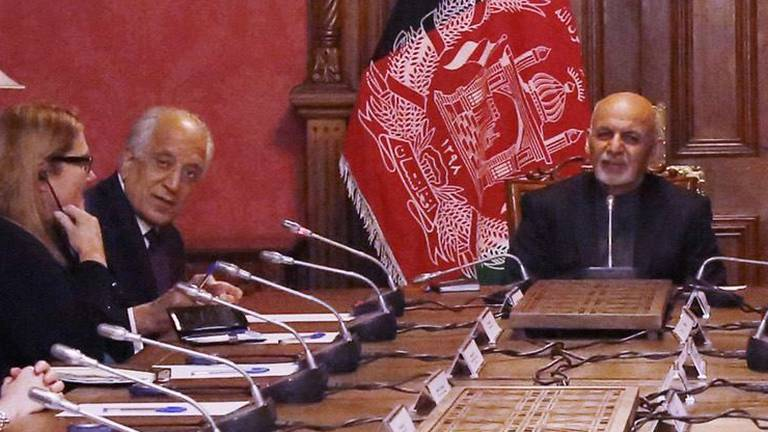 An image that illustrates this article Khalilzad and Ghani: The 'Beiruti boys' who rose and fell with Afghanistan