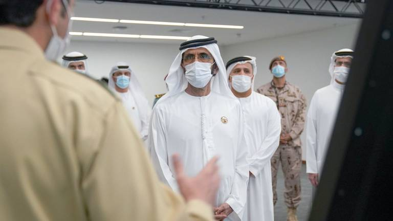 An image that illustrates this article Ruler of Dubai tours Expo 2020 command centre