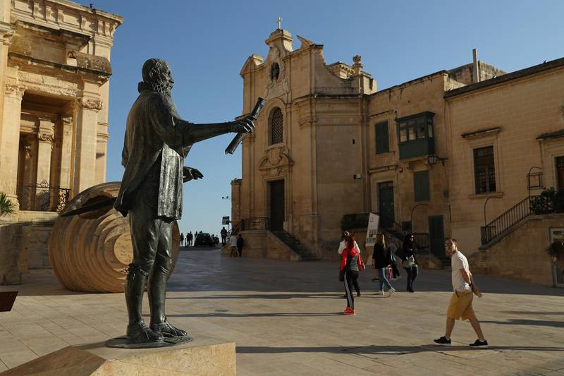 VALLETTA, MALTA - MARCH 30:  A statue of Jean Parisot de Valette, Grand Master of the Order of the Knights of Malta, stands on March 30, 2017 in Valletta, Malta. Valletta, a fortfied town that dates back to the 16th century, is the capital of Malta and a UNESCO World Heritage Site. In the last 2,000 years Malta has been under Roman, Muslim, Norman, Knights of Malta, French and British rule before it became independent in 1964. Today Malta remains a crossroads of cultures and is a popular tourist destination.  (Photo by Sean Gallup/Getty Images)