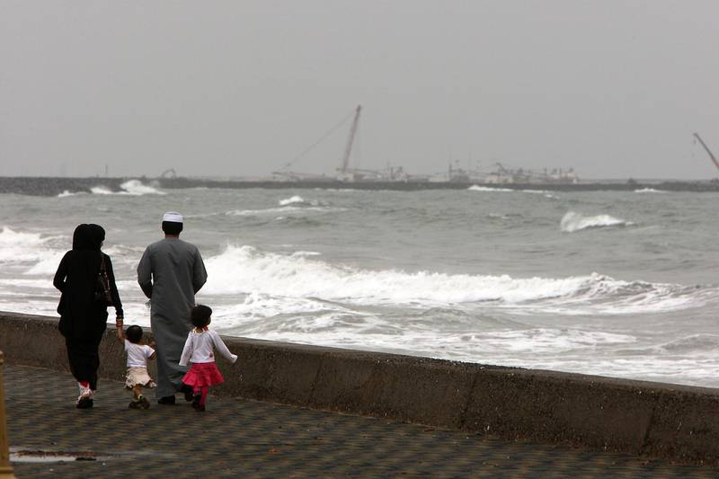 SHARJAH , UNITED ARAB EMIRATES Ð Feb 26 : Rough see because of bad weather in Kalba in Sharjah. ( Pawan Singh / The National ) For News.