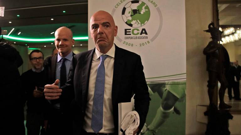 An image that illustrates this article Biennial World Cup would have 'destructive impact on club game', ECA warns Fifa