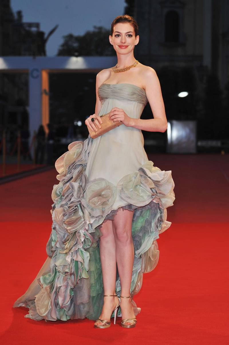 VENICE, ITALY - SEPTEMBER 03:  Actress Anne Hathaway attends the 'Rachel Getting Married' film premiere at the Sala Grande during the 65th Venice Film Festival on September 3, 2008 in Venice, Italy.  (Photo by Pascal Le Segretain/Getty Images)