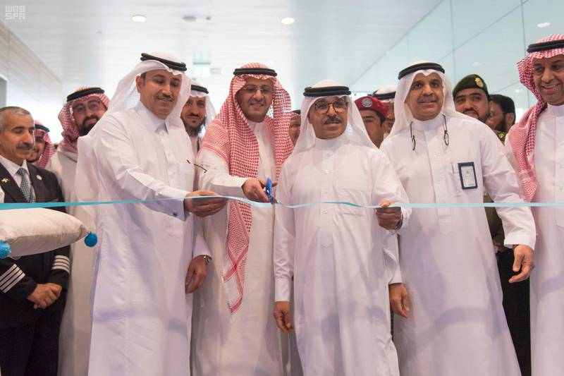 Saudi's Neom airport operated its first flight. SPA