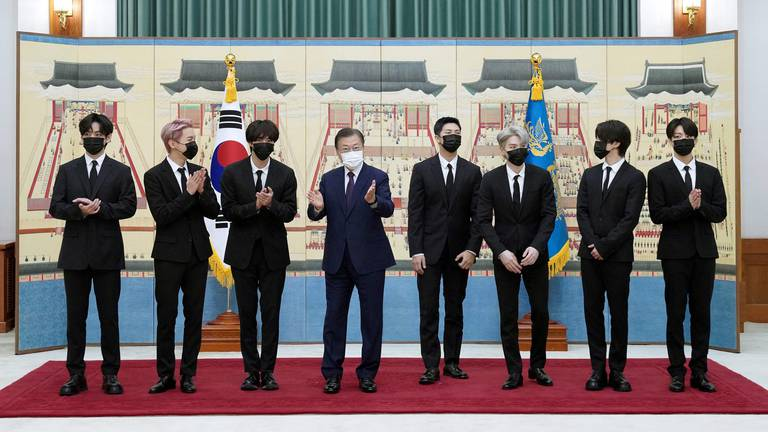 An image that illustrates this article BTS receive diplomatic passports from South Korean president