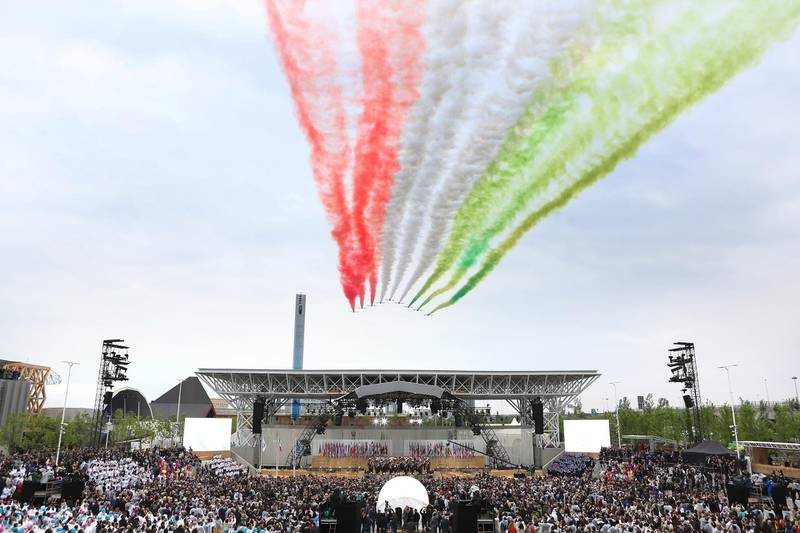 MILAN, ITALY - MAY 01:  A general view of atmosphere during the Opening Ceremony - Expo 2015 at Fiera Milano Rho on May 1, 2015 in Milan, Italy.  (Photo by Vincenzo Lombardo/Getty Images)