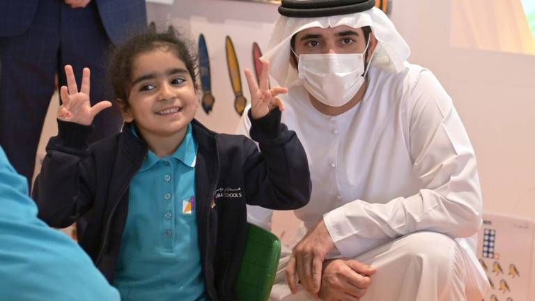 An image that illustrates this article Sheikh Hamdan visits one of Dubai's new affordable schools