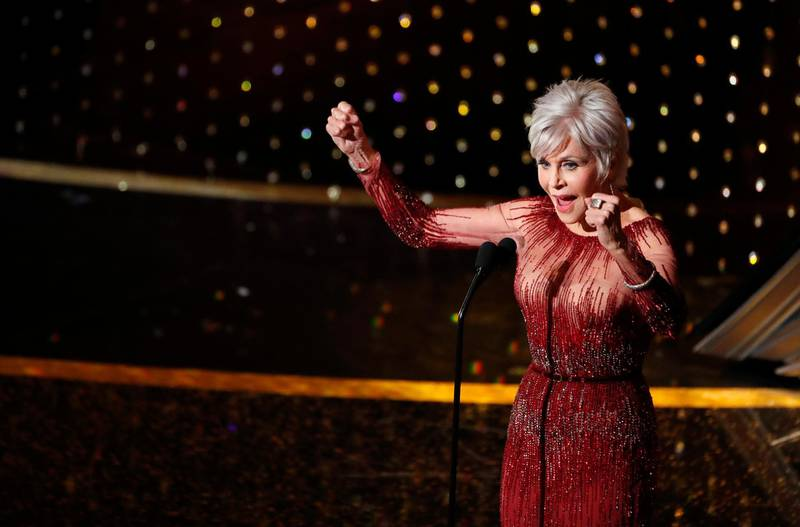 Jane Fonda closes the Oscars show at the 92nd Academy Awards in Hollywood, Los Angeles, California, U.S., February 9, 2020. REUTERS/Mario Anzuoni