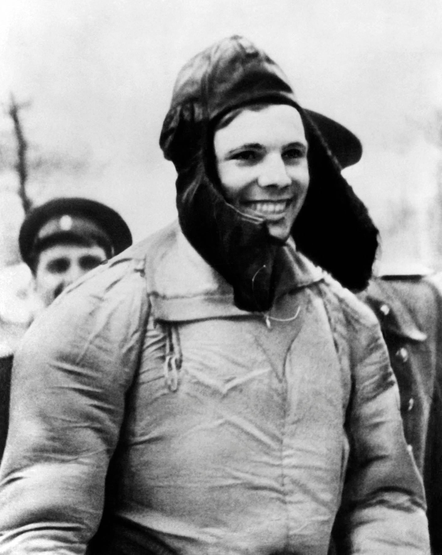 (FILES) In this file photo Soviet cosmonaut Yuri Gagarin is seen in 1961. He became the first human to travel in space aboard Vostok I and the first to orbit the earth on April 12, 1961. Sixty years ago Monday Soviet cosmonaut Yuri Gagarin became the first person in space, securing victory for Moscow in its race with Washington and marking a new chapter in the history of space exploration. / AFP / TASS / -