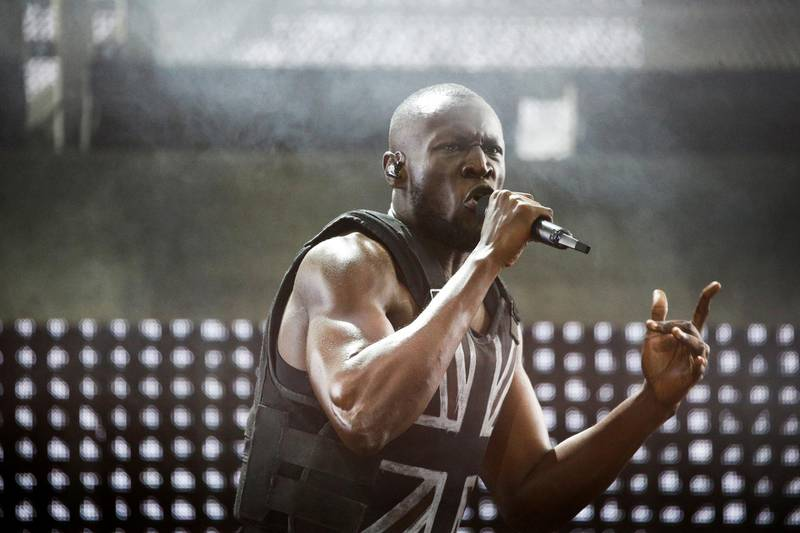 FILE PHOTO: British rapper Stormzy performs the headline slot on the Pyramid stage during Glastonbury Festival in Somerset, Britain, June 28, 2019. REUTERS/Henry Nicholls/File Photo