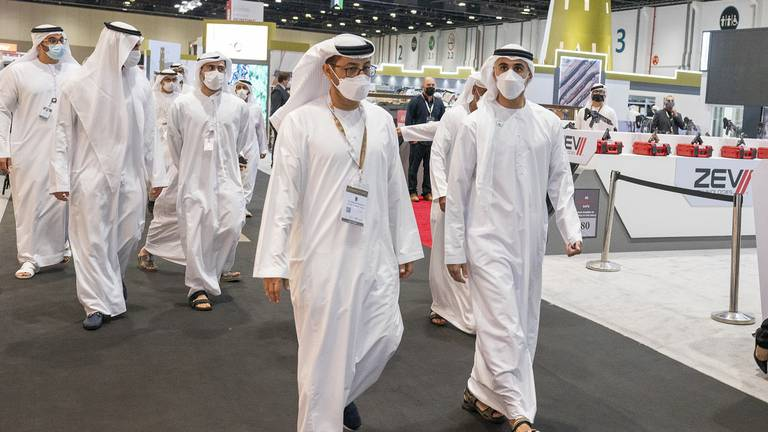 An image that illustrates this article Sheikh Khaled highlights sustainable hunting during Adihex visit
