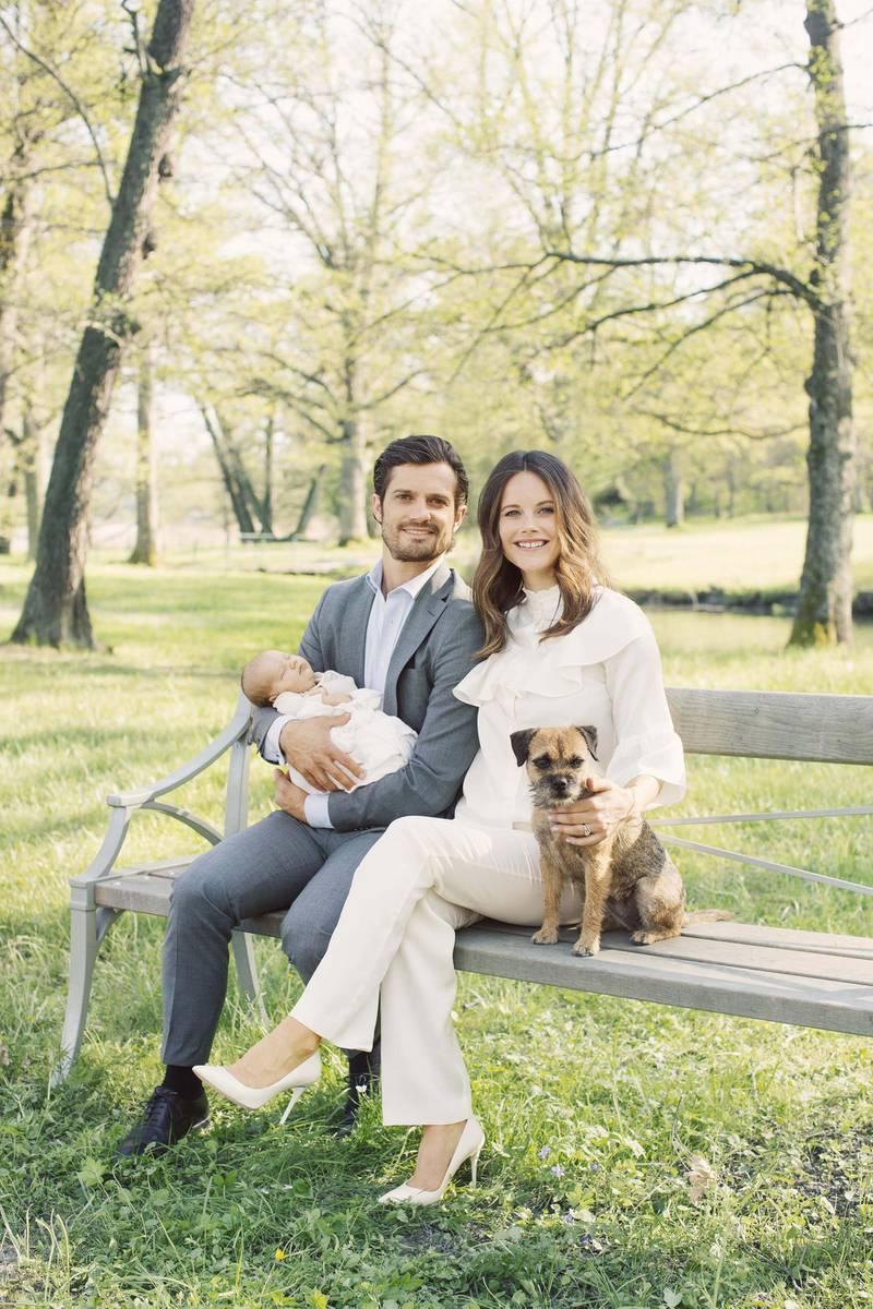 Prince Carl Philip, Princess Sofia and Prince Alexander with Siri. Erika Gerdemark / Royal Court of Sweden