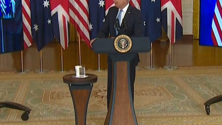 An image that illustrates this article Biden forgets Australian PM's name, calls him 'fellow down under'