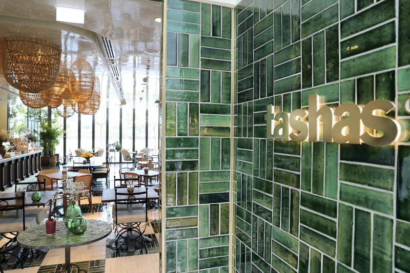 DUBAI, UNITED ARAB EMIRATES , June 18  – 2020 :- View of the Tashas café at the Galleria Mall in Al Barsha in Dubai.  (Pawan Singh / The National) For Lifestyle. Story by Ashleigh Stewart