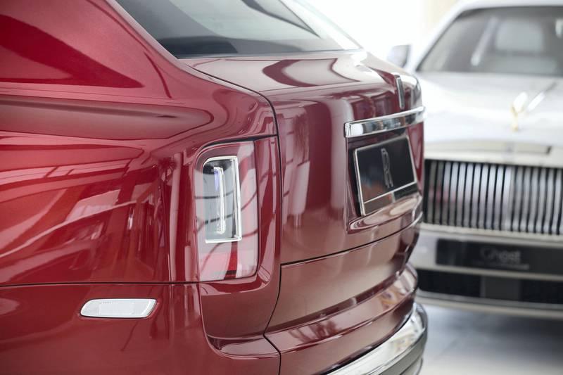 Abu Dhabi, United Arab Emirates - June 3rd, 2018: The new Rolls-Royce Cullinan SUV at Rolls-Royce Abu Dhabi Motors showroom. Sunday, June 3rd, 2018 at Al Maqta, Abu Dhabi. Chris Whiteoak / The National