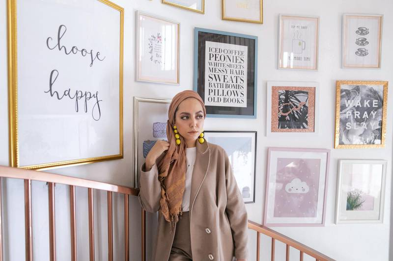 DUBAI, UNITED ARAB EMIRATES - SEPTEMBER 17, 2018. Safiya Abdallah, founder and designer of Dulce by Safiya. (Photo by Reem Mohammed/The National)Reporter: HAFSA LODISection: aC