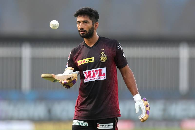 Rahul Tripathi of Kolkata Knight Riders during the practise session before the start of match 16 of season 13 of the Dream 11 Indian Premier League (IPL) between the Delhi Capitals and the Kolkata Knight Riders held at the Sharjah Cricket Stadium, Sharjah in the United Arab Emirates on the 3rd October 2020.  Photo by: Deepak Malik  / Sportzpics for BCCI