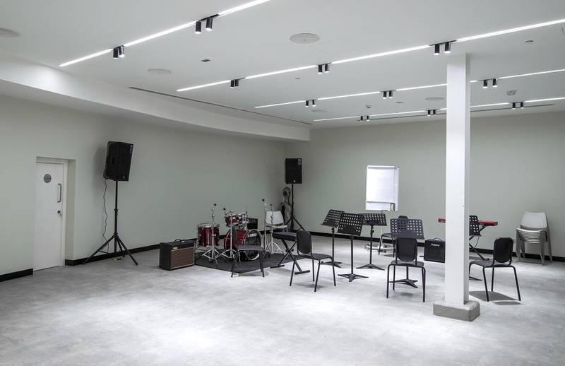 Abu Dhabi, United Arab Emirates, March 3, 2020.  Beklee Abu Dhabi, Manarat Saadiyat.  Interior and exterior images.  One of the music sound proof rooms.Victor Besa / The NationalSection:  NAReporter:  Razmig Bedirian