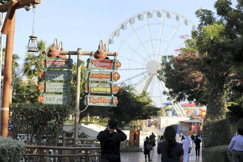 Dubai, United Arab Emirates - Reporter: N/A. News. Entertainment. Bollywood Parks is reopening to the public tomorrow with nine new rides. Dubai. Wednesday, January 20th, 2021. Chris Whiteoak / The National
