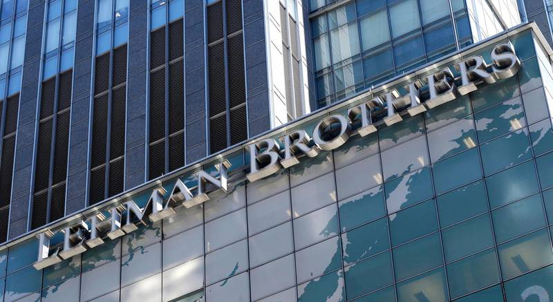 epa07014453 (FILE) - A file photograph showing a view of the Lehman Brothers world headquarters in New York City, New York, USA, 12 June 2008 (reissued 07 September 2018). US investment bank Lehman Brothers filed for Chapter 11 bankruptcy protection on 15 September 2008, triggering a worldwide financial crisis. The bankruptcy of the bank with more than 600 billion USD in assets is up-to-daye the largest bankruptcy filing in the history of USA.  EPA/JUSTIN LANE