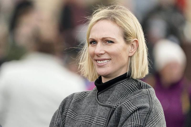 CHELTENHAM, ENGLAND - DECEMBER 13: Zara Tindall in the parade ring to watch her mother's horse Chequered View run at Cheltenham Racecourse on December 13, 2019 in Cheltenham, England. (Photo by Alan Crowhurst/Getty Images)