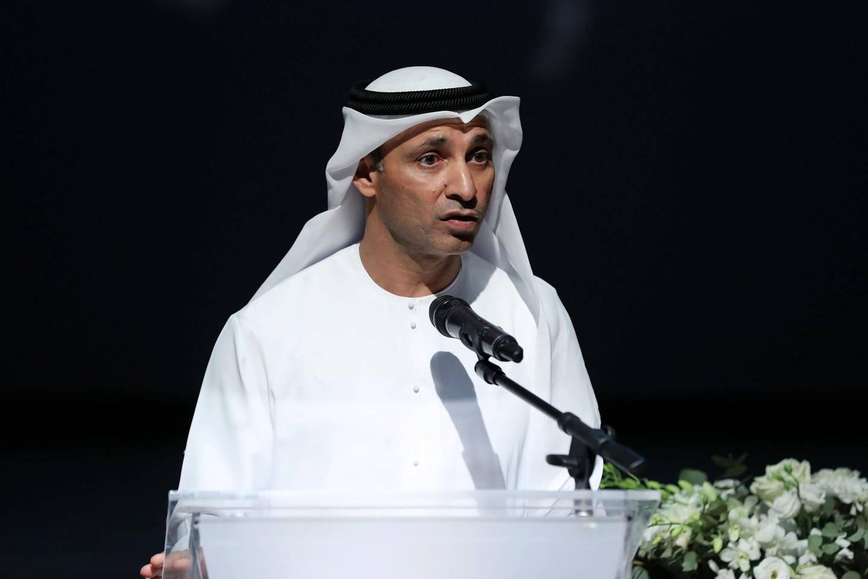 Dubai, United Arab Emirates - June 23, 2019: Abdulla Al Karam head of the KHDA. Pioneering Industry Collaborations with Education. Sunday the 23rd of June 2019. GEMS FirstPoint School, Dubai. Chris Whiteoak / The National