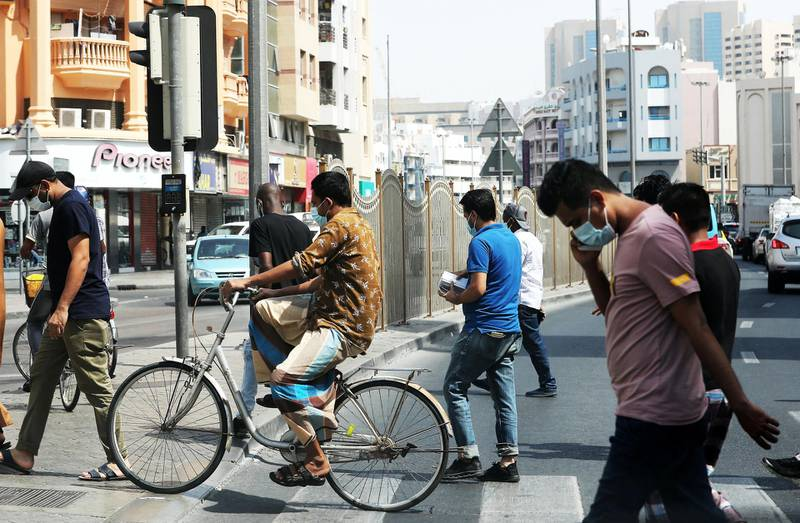 DUBAI, UNITED ARAB EMIRATES , June 24 – 2020 :- People wearing protective face mask as a preventive measure against the spread of coronavirus in Deira Dubai. (Pawan Singh / The National) For News/Stock