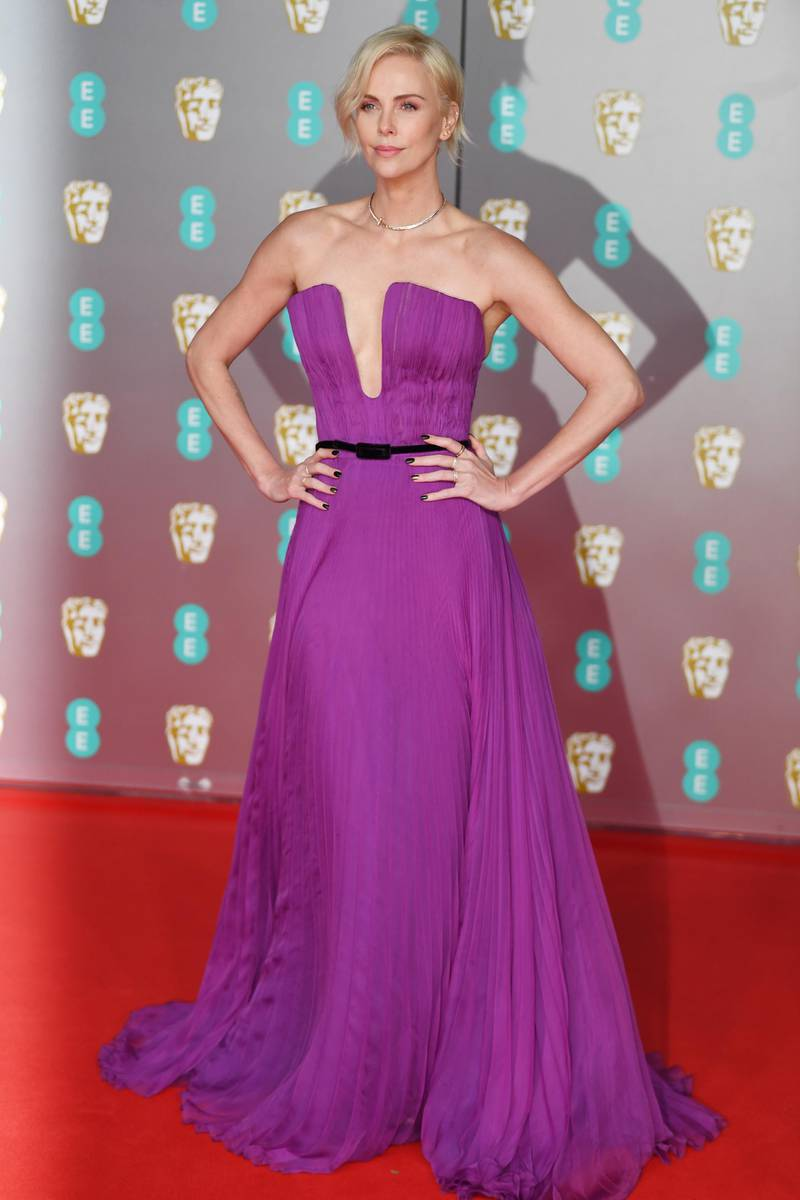 epa08188580 Charlize Theron attends the 73rd annual British Academy Film Award at the Royal Albert Hall in London, Britain, 02 February 2020. The ceremony is hosted by the British Academy of Film and Television Arts (BAFTA).  EPA-EFE/NEIL HALL
