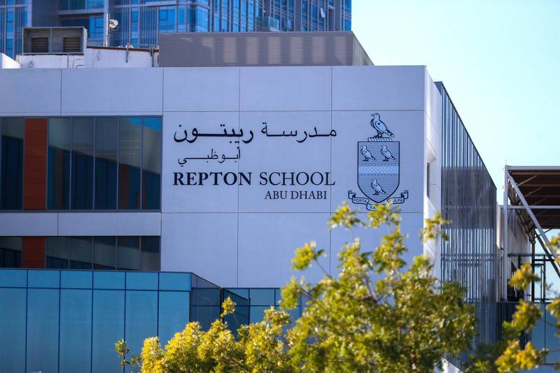 Abu Dhabi, United Arab Emirates, October  21, 2020.   Al Reem Island for area guide.  Repton School Abu Dhabi.Victor Besa/The National.Section:  NAReporter:  Gillian Duncan