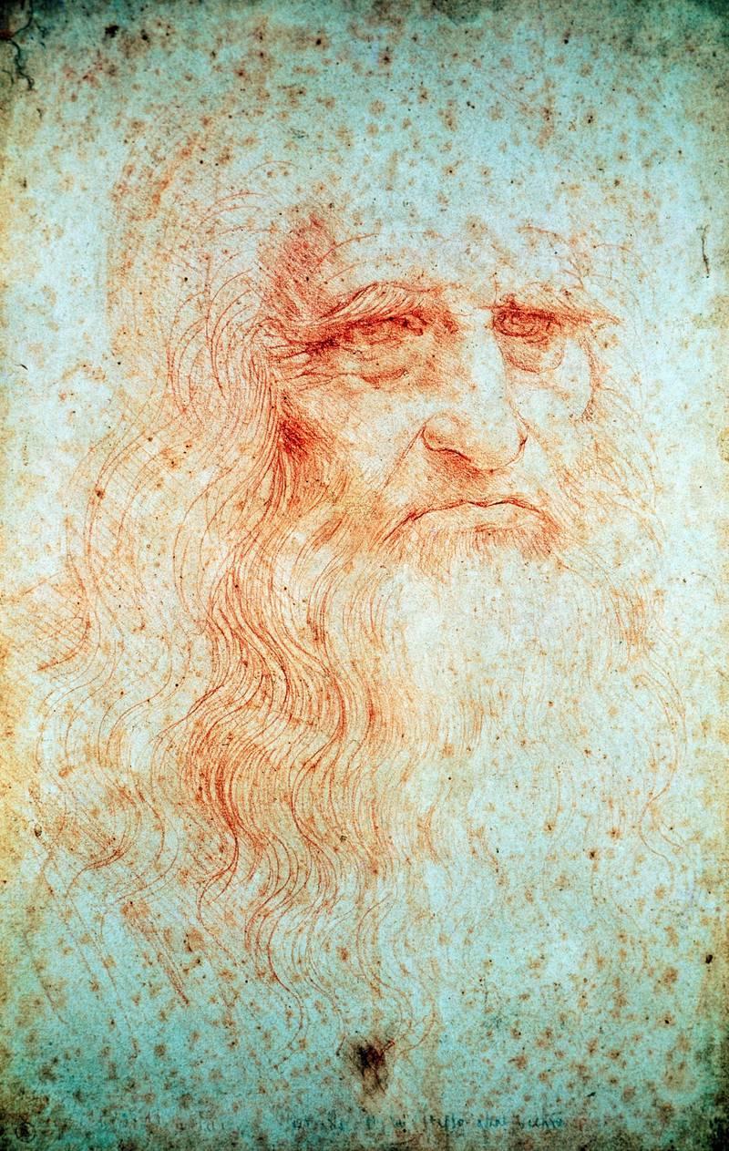 ITALY - JUNE 04:  Self-Portrait, 1512-1515, by Leonardo da Vinci (1452-1519), drawing. (Inv. 15571, Coll. Dis. It. I/30). (Photo by DeAgostini/Getty Images)