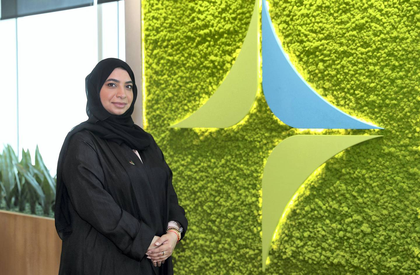 DUBAI, UNITED ARAB EMIRATES , March 4  – 2020 :- Dr Hend Al Awadhi, Head of Health Promotion and Education Section in the DHA's Public Health Protection Department  at the DHA office in Festival Office tower in Dubai. (Pawan Singh / The National) For News. Story by Nick Webster