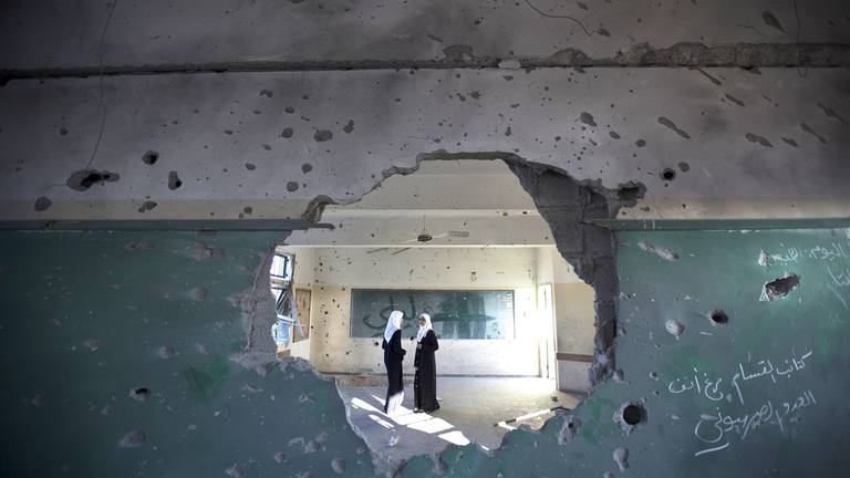 An image that illustrates this article Gaza's children return to schools scarred by May war