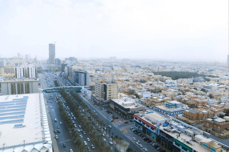 New office space reveals views across the city skyline in Riyadh, Saudi Arabia, on Monday, Feb. 10, 2020. Crown Prince Mohammed bin Salman is trying to reshape the kingdom into the new place to do business. Photographer: Maya Anwar Siddiqui/Bloomberg