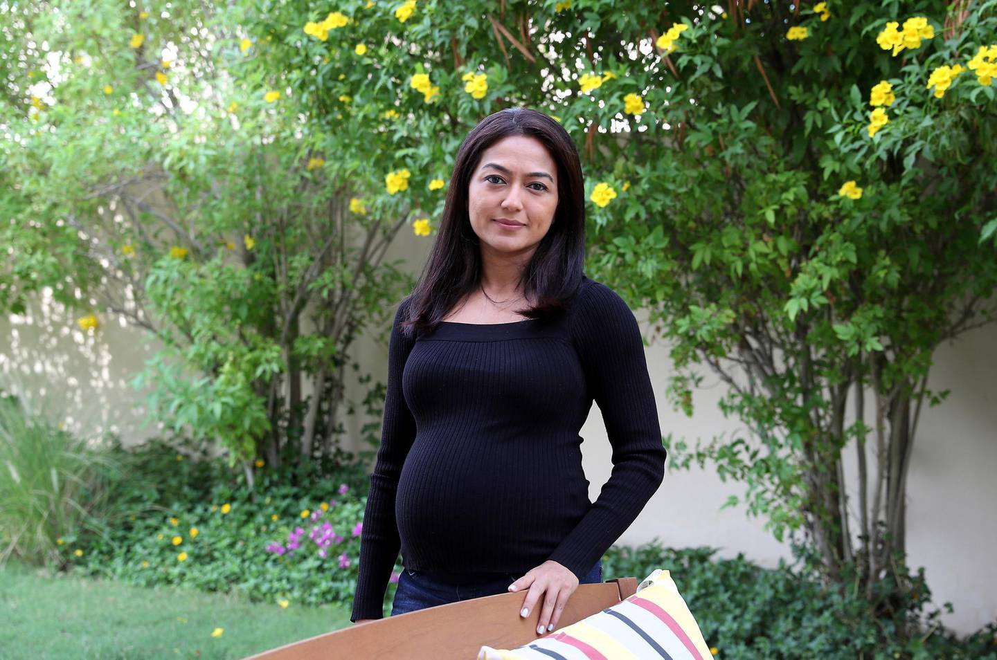 DUBAI, UNITED ARAB EMIRATES , November 17 – 2020 :- Smeetha Ghosh at her villa in the Arabian Ranches in Dubai. She will soon launch an app for the children to teach financial literacy.  (Pawan Singh / The National) For Business. Story by Deepthi
