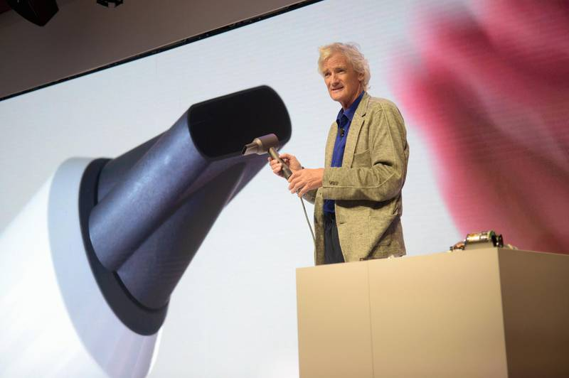 (FILES) In this file photo taken on September 14, 2016 James Dyson speaks onstage during the Dyson Supersonic Hair Dryer launch event at Center548 in New York City.    James Dyson is excited to move into his new research centre in south-west England where he wants to accelerate the production of his electric car as he speaks to AFP on February 28, 2018. / AFP PHOTO / GETTY IMAGES NORTH AMERICA / Jason Kempin / TO GO WITH AFP STORY by PATRICE NOVOTNY
