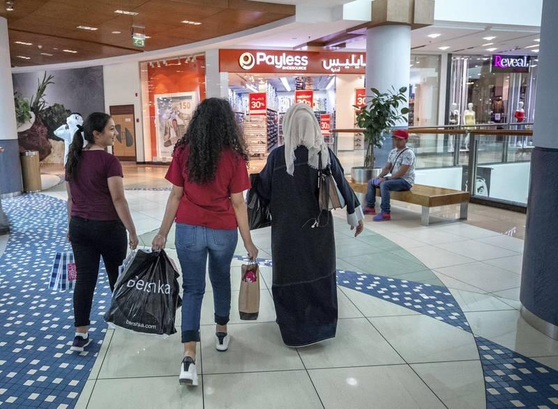 Abu Dhabi, U.A.E., June 13, 2018.  Eid Al Fitr shoppers at Al Wahda Mall.Victor Besa / The NationalReporter:  Section:  National