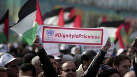 Gaza's UN employees protest against US aid cut